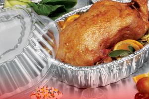 Oval Aluminum Chicken/Casserole Roaster Pan