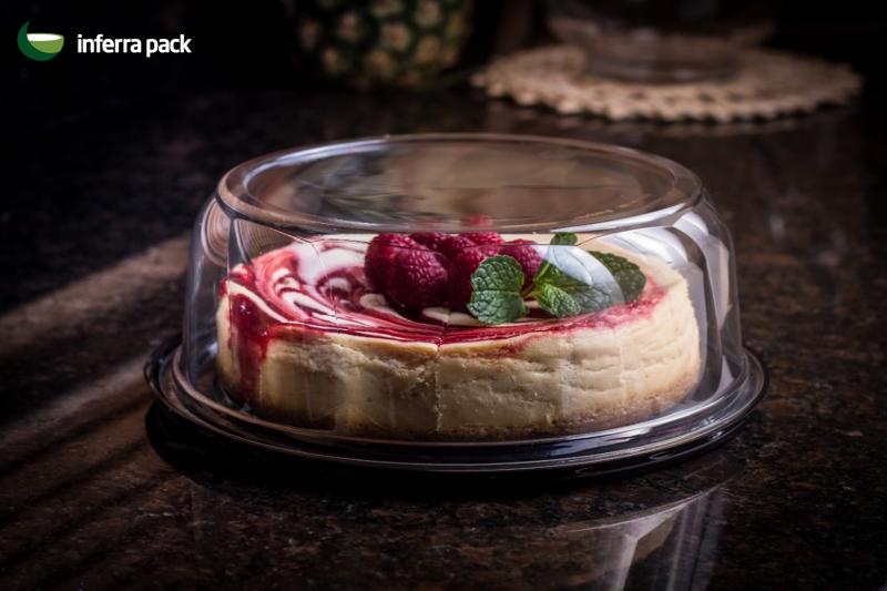 круглий контейнер для торту