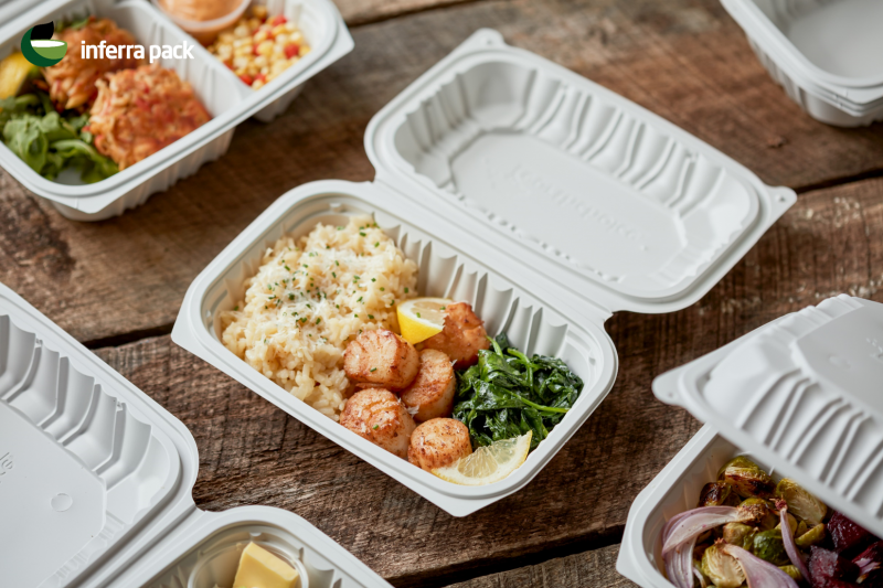 Disposable eco containers for food