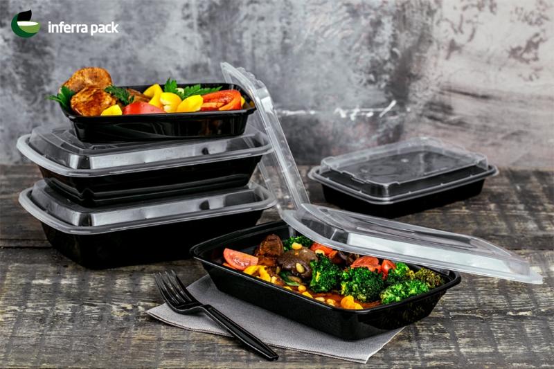 Контейнеры одноразовые пищевые с крышкой. Контейнеры для супа, вторых блюд, салатов и соусов.