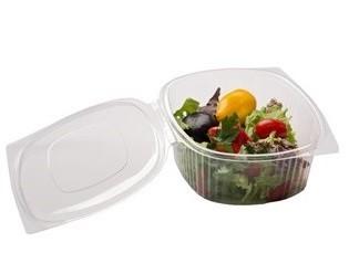 Одноразовая пищевая упаковка для салатов, контейнеры с крышкой для пищевых продуктов одноразовые