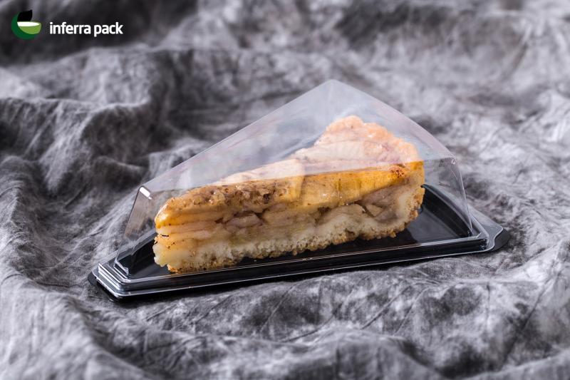 треугольный контейнер для кусочков торта